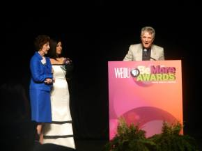 Ms. Margo accepting her award at WEDU awards ceremony Feb. 2014