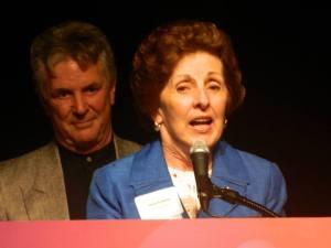 Ms. Margo giving her speech at WEDU award ceremony Feb. 2014