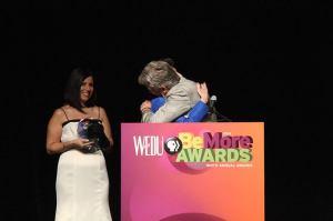 Ms. Margo with Mason Dixon at WEDU award ceremony Feb. 2014